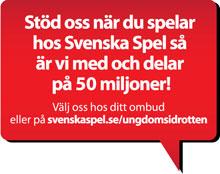Stöd Carlstad United Ungdom FF när du spelar hos Svenska Spel