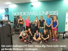 Gör som Lindhagen FF Dam - träna på Nordic Wellness Lindhagen